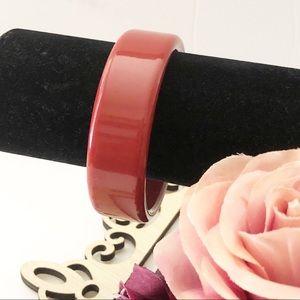 """Vintage Rust Resin Bracelet. 3"""" diameter"""